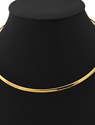 cheap -Women's Torque Ladies Fashion Platinum Plated Gold Plated Yellow Gold Necklace Jewelry For Wedding Party Daily Casual