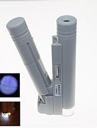 Недорогие -портативный светодиодной подсветкой 100x микроскоп со шкалой Маркировка (2 х АА)