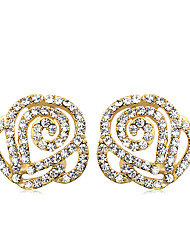 cheap -Women's Crystal Stud Earrings Crystal Earrings Jewelry Silver / Golden For Party Daily Casual