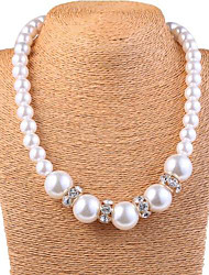 cheap -Women's Elegant White Imitation Pearl Necklace
