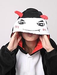 cheap -Adults' Kigurumi Pajamas with Slippers Monster Devil Animal Onesie Pajamas Coral fleece Cosplay For Men and Women Animal Sleepwear Cartoon Festival / Holiday Costumes