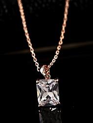 Недорогие -Белый Жемчуг Цирконий Сплав Розовое золото Ожерелье Бижутерия Назначение Повседневные