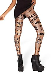 cheap -Women's Fashion Personality Letters Star Printing Leggings