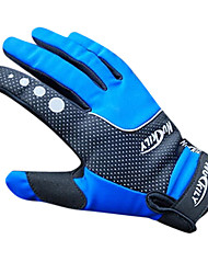 cheap -Nuckily Gloves Bike Gloves / Cycling Gloves Mountain Bike MTB Thermal / Warm Waterproof Windproof Breathable Full Finger Gloves Sports Gloves Fleece Blue for Adults' Racing / Anti-Slip