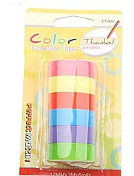 cheap -Decoration Rainbow Color Tape Adhesive Sticker 6 Rolls Set (Assorted Color)