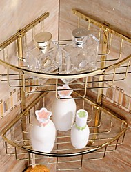 abordables -Plaqué or Matériau Laiton bains Paniers de douche