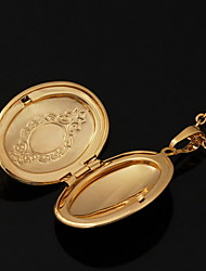 cheap -Pendant Necklace Lockets Necklace Ladies 18K Gold Plated Copper Gold Plated Golden Necklace Jewelry For Wedding