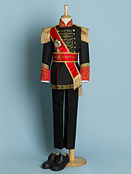 cheap -Ivory / Black Polyester Ring Bearer Suit - Five-piece Suit Includes  Jacket / Waist cummerbund / Shirt