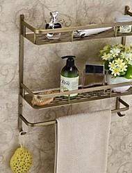cheap -Antique Brass Finish Brass Material Bathroom Shelves