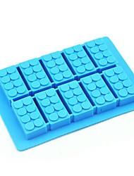 Недорогие -10 отверстий кирпич строительный блок форма льда плесень мороженица силиконовые формы
