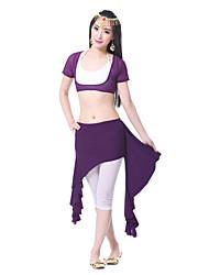cheap -Belly Dance Skirt Women's Training Chiffon Satin Draping Skirt