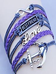cheap -Unisex's Love and Best Friend  Handwoven Bracelet