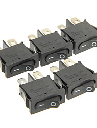 Недорогие -hongju diy t85 2-контактный переключатель качалки - черный цвет (5 шт)