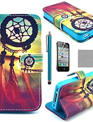 cheap -Case For iPhone 4/4S iPhone 4s / 4 Full Body Cases Hard PU Leather