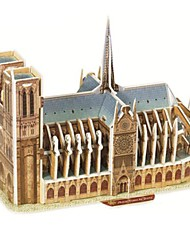 cheap -Famous buildings 3D Puzzle Wooden Puzzle Paper Model Model Building Kit Wooden Model Paper Kid's Adults' Toy Gift