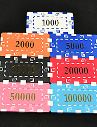 cheap -Mahjong Box Apply to 43mm Texas Hold'Em Poker Mahjong Chips Arcylic Frame Toys