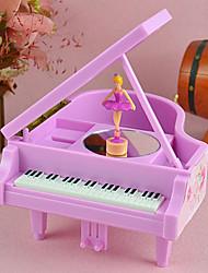 cheap -Swan Lake Rotate Ballet Girl Piano Music Box