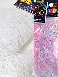 Недорогие -baoguang®600pcs цвета радуги изменение цвета ткацкий станок УФ мода ткацкий станок резинку (CLIP 1package S)