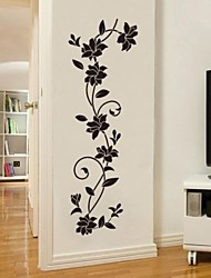 cheap -Decorative Wall Stickers - Plane Wall Stickers Romance / Fashion / Botanical Living Room / Bedroom / Dining Room / Washable / Removable