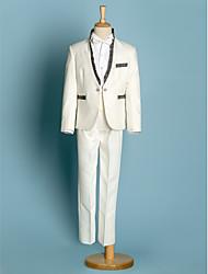 cheap -Polyester Ring Bearer Suit - 5 Pieces Includes  Jacket / Shirt / Pants / Waist cummerbund / Bow Tie