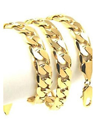 cheap -Unisex Chain Necklace Vintage Gold Plated Yellow Gold Alloy Gold Necklace Jewelry For Party