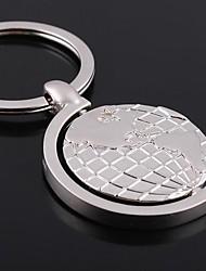 cheap -a globe shape metal silver keychain toys