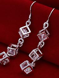 cheap -Women's Drop Earrings Silver Plated Earrings Jewelry Silver For