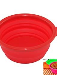 cheap -Cat / Dog Bowls & Water Bottles Pet Bowls & Feeding Portable / Foldable Black / Green / Purple
