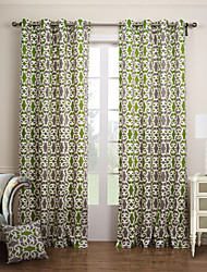 cheap -Ready Made Eco-friendly Curtains Drapes Two Panels / Jacquard / Bedroom
