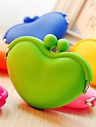 Недорогие -формы сердца силикагель портмоне случайный цвет