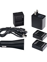 cheap -highpro abs black dual charger and 2 batterys