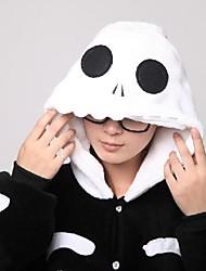 cheap -Adults' Kigurumi Pajamas with Slippers Skeleton Ghost Animal Onesie Pajamas Coral fleece Cosplay For Men and Women Animal Sleepwear Cartoon Festival / Holiday Costumes