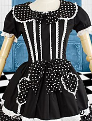 cheap -Sweet Lolita Dress Women's Dress Cosplay Black Short Sleeve Short Length Costumes