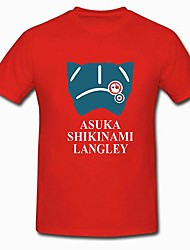 cheap -Inspired by Cosplay Asuka Langley Soryu Anime Cosplay Costumes Japanese Cosplay Tops / Bottoms Short Sleeve T-shirt For Women's