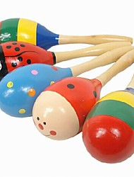 Недорогие -Детская деревянная Мультфильм Музыка Белл Песок Молот Развивающие игрушки