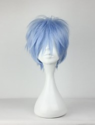 cheap -Cosplay Kuroko Tetsuya Cosplay Wigs Men's 12 inch Heat Resistant Fiber Blue Anime
