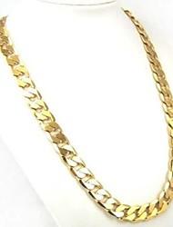 Недорогие -Муж. Ожерелья-цепочки Кубинская ссылка Скрученный Бат-цепь На заказ Классика Мода Уличный стиль Позолота Металл цвета желтого золота Золотой Ожерелье Бижутерия 1шт Назначение