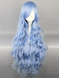 cheap -Date A Live Yoshino Cosplay Wigs Women's 36 inch Heat Resistant Fiber Anime