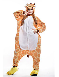 cheap -Adults' Kigurumi Pajamas Giraffe Animal Onesie Pajamas Polar Fleece Orange Cosplay For Men and Women Animal Sleepwear Cartoon Festival / Holiday Costumes