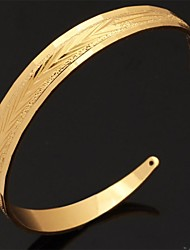 cheap -Women's Cuff Bracelet Ladies Open Platinum Plated Bracelet Jewelry Silver / Golden For Christmas Gifts Wedding Party Daily Casual Sports / Gold Plated