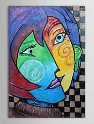 cheap -Oil Painting Hand Painted - Famous Comtemporary Stretched Canvas