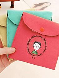 Недорогие -винтажном стиле детства подпись хлопка гигиенических салфеток сумка случайный цвет