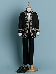cheap -Polyester Ring Bearer Suit - 4 Pieces Includes  Jacket / Shirt / Pants / Bow Tie