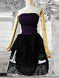 cheap -Dress Gothic Lolita Dress Women's Black Lolita Accessories Cotton Halloween Costumes / Short Length