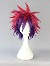 cheap -No Game No Life Sora Cosplay Wigs Men's 12 inch Heat Resistant Fiber Red Anime