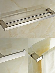 cheap -Bathroom Accessory Set Contemporary Stainless Steel 3pcs - Hotel bath Toilet Paper Holders / tower bar