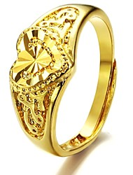 cheap -Women's Band Ring Gold Plated Asian Fashion Wedding Party Jewelry