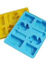 Недорогие -хип-хоп лед плесень силиконовые кубики льда случайный цвет (6.2x5.2x0.8 дюйма)