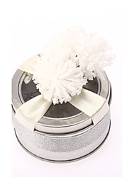 cheap -Cylinder Iron(nickel plated) Favor Holder with Ribbons / Flower Favor Boxes / Favor Tins and Pails - 6