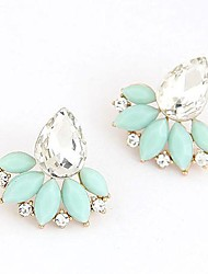 cheap -Women's Stud Earrings Ladies Fashion Elegant Bridal Resin Earrings Jewelry White / Blue / Pink For Wedding Party Daily Office & Career